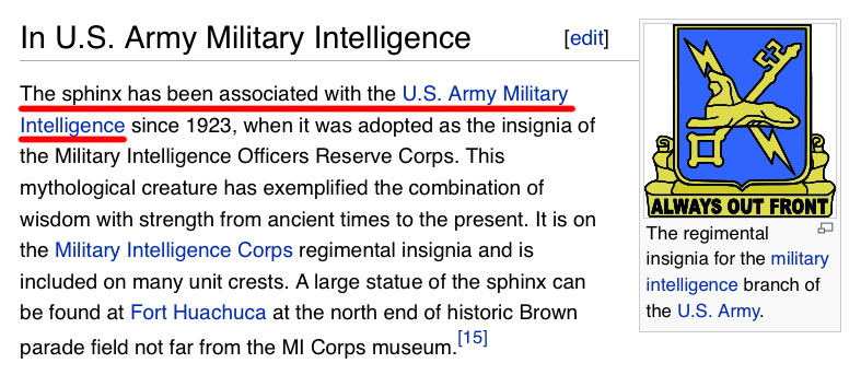 Sphinxes in Military Intelligence