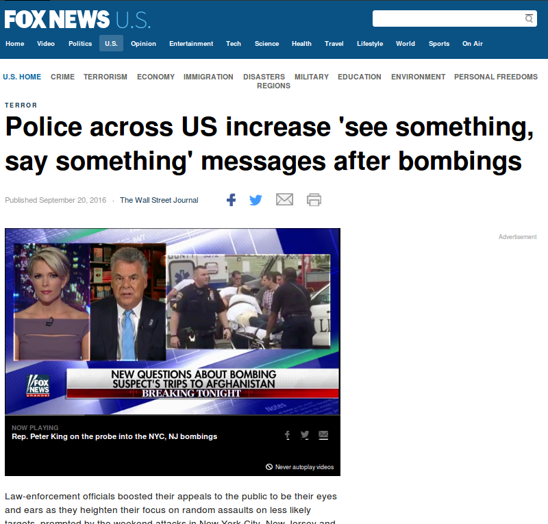 police increase see something say something after 2016 bombings