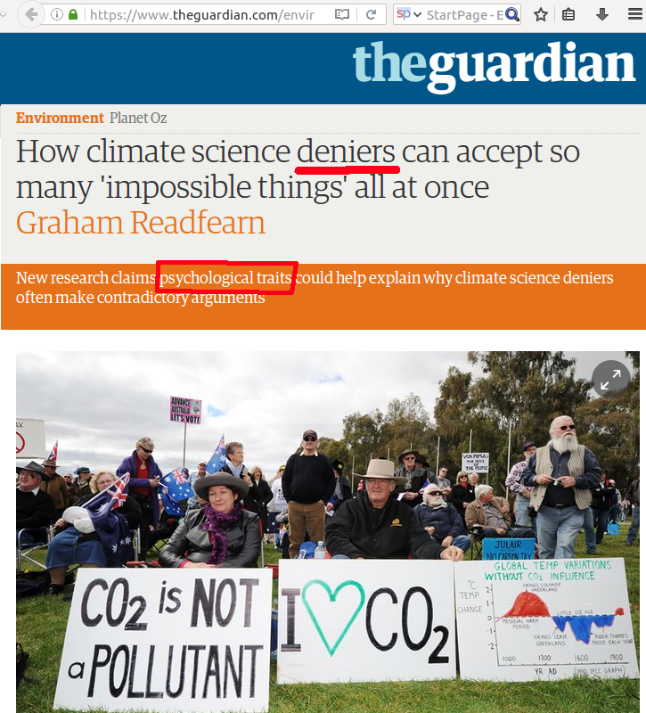 climate science deniers