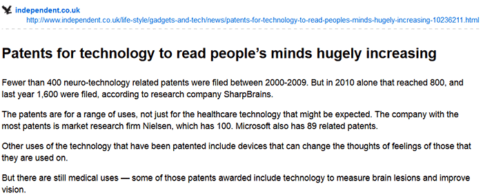 neurotechnology patents exploding