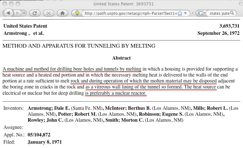 tunnel-patent