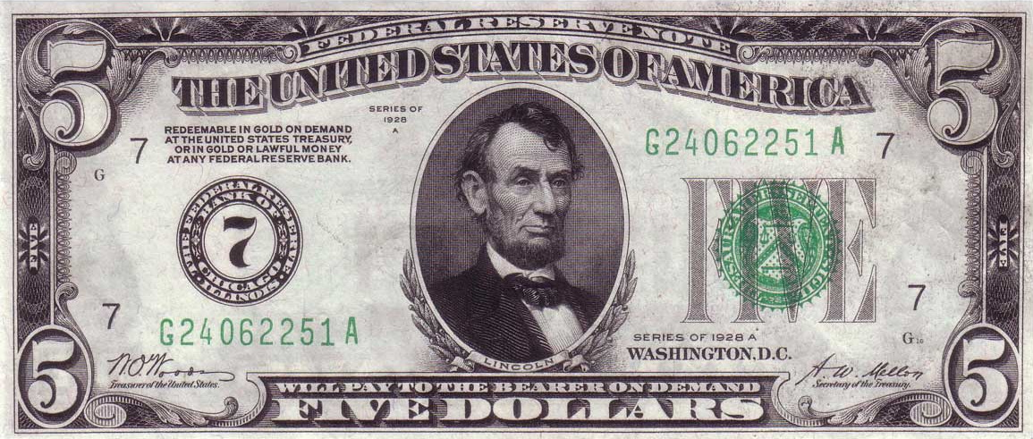 1928A-five-dollar-fed-reserve-note