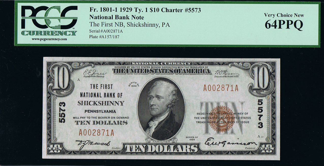 US-Natl-Currency-PA-Shickshinny-1929-10-dollar-obv