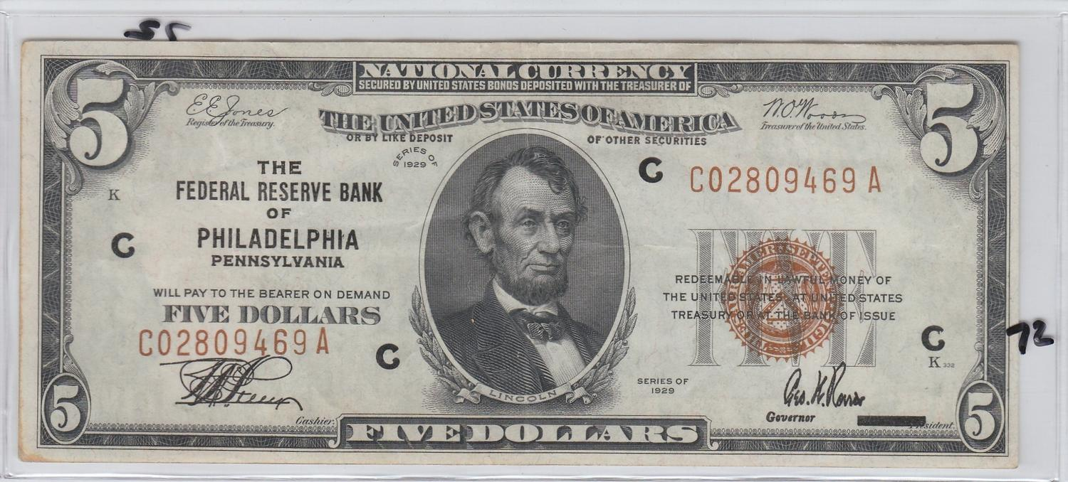 national-currency-five-dollars