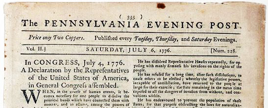 Pennsylvania Evening Post - July 2, 1776