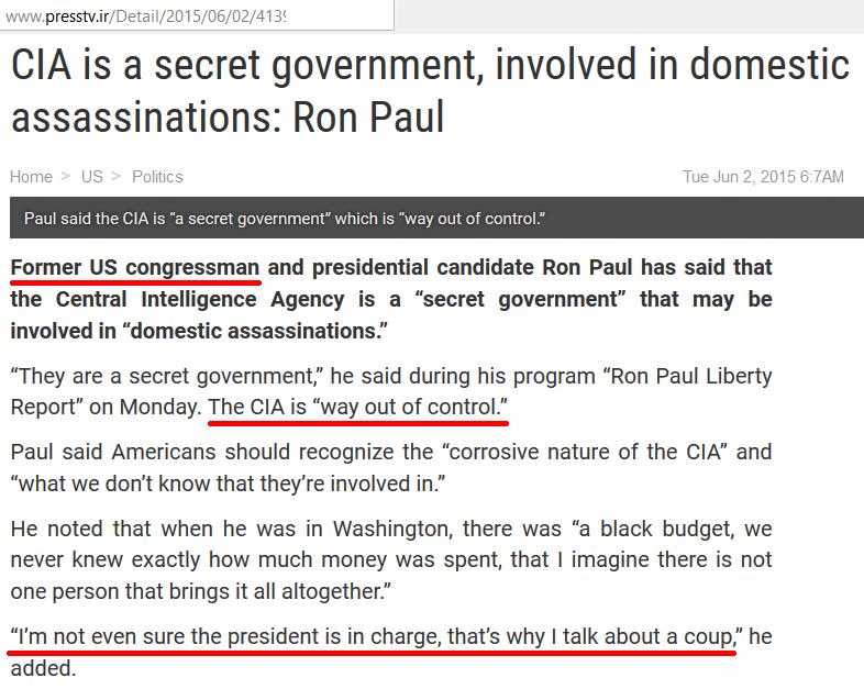 ron paul cia out of control
