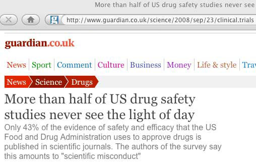 Drug Studies Buried
