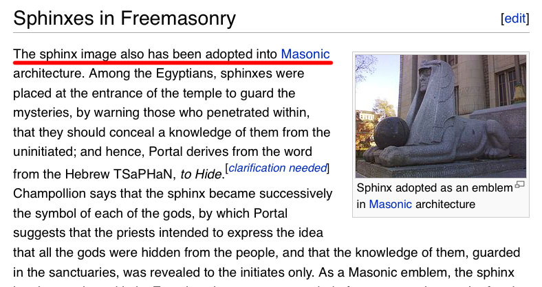 Sphinxes in Freemasonry