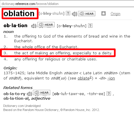 oblation-dictionary-definition
