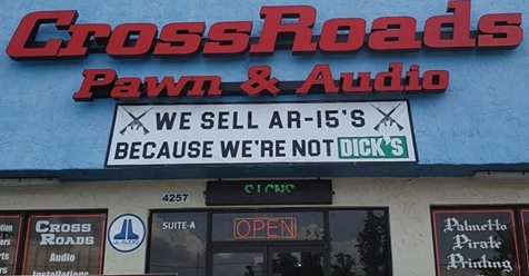 We sell AR-15s because we're not Dicks