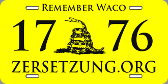 Waco Zersetzung License Plate Proof small