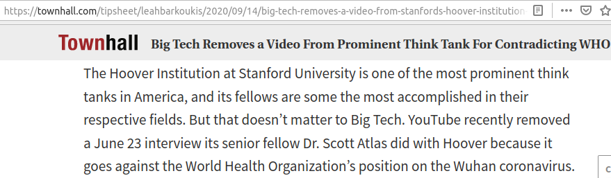 Youtube bans Stanford video contradicting WHO