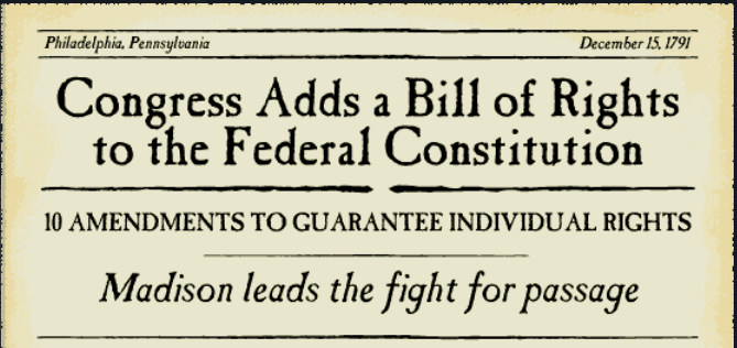 congress adds bill of rights