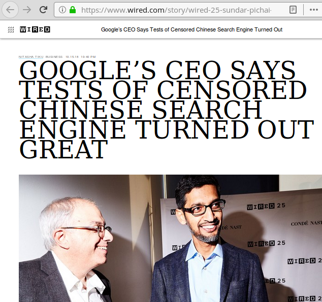 google says censored chinese search engine great