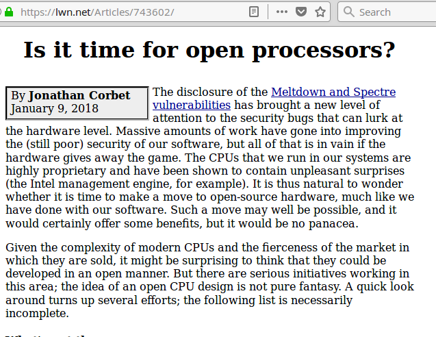 is it time for open processors