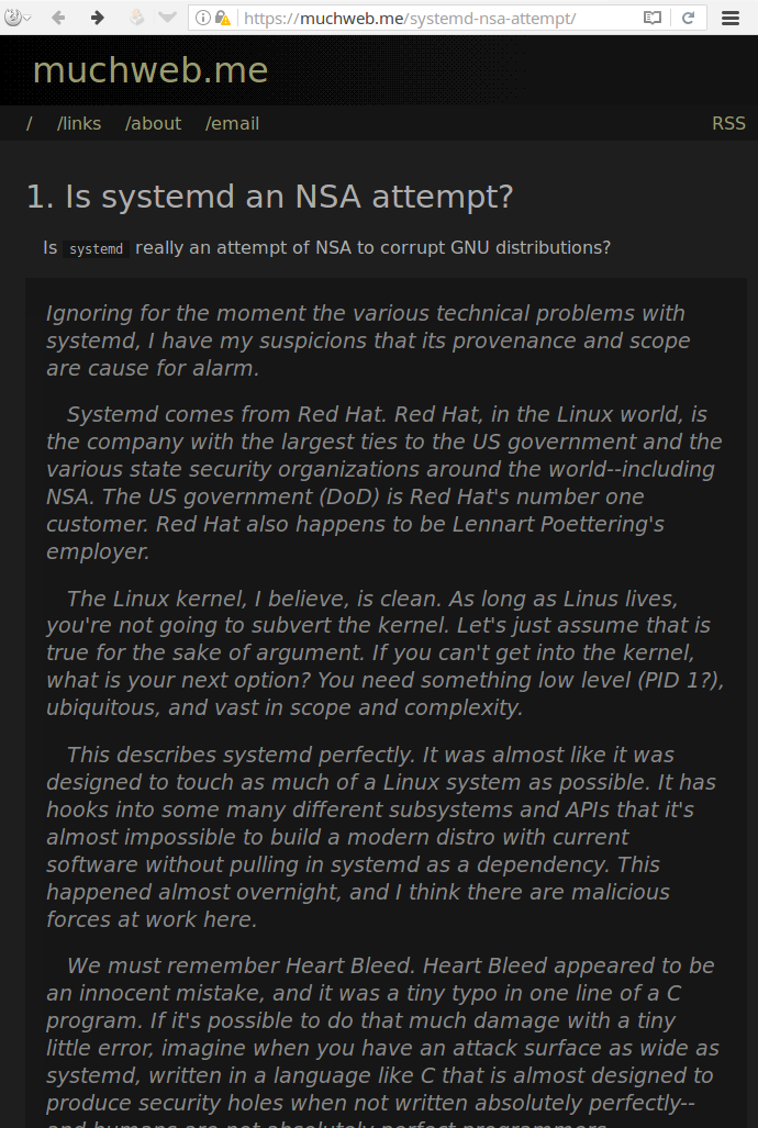 is systemd an nsa attempt