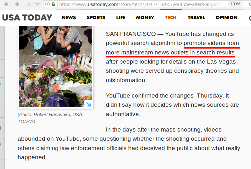 youtube alters algorithms after mass shooting