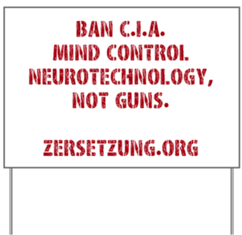 Ban Mind Control Yard Sign